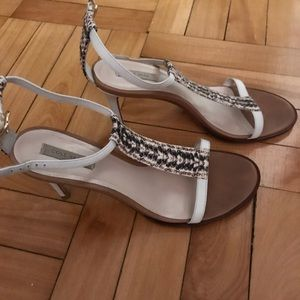 Cole Haan Strappy White Sandals Size 7.5